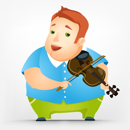 Cheerful Chubby Man Stock Vector - 17546402