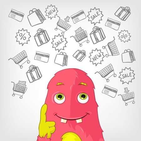 Funny Monster  Stock Vector - 17677763