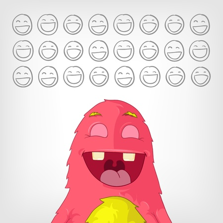 Funny Monster Stock Vector - 17677814