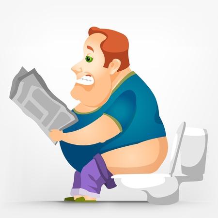 Vrolijke Chubby Mannen Stock Illustratie
