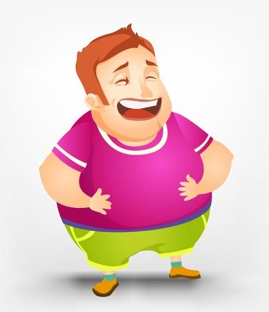 Cheerful Chubby Men Stock Vector - 17677830