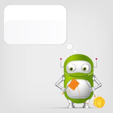 Cute Robot Stock Vector - 17977592