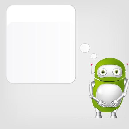 talking robot: Cute Robot