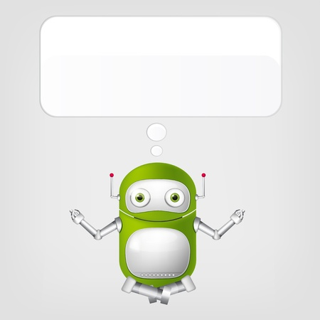 Cute Robot Stock Vector - 17977601