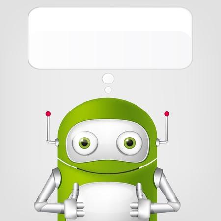 Cute Robot Stock Vector - 17977593