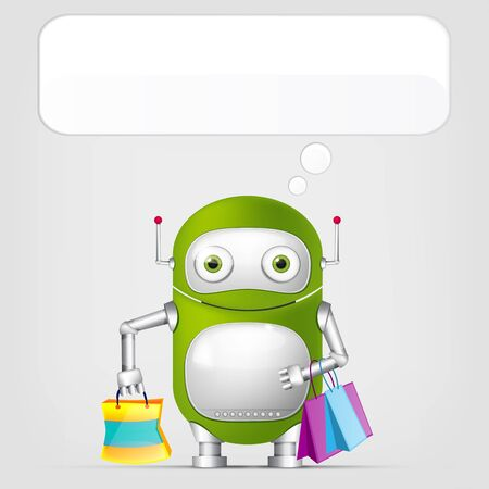 Cute Robot Stock Vector - 18725305