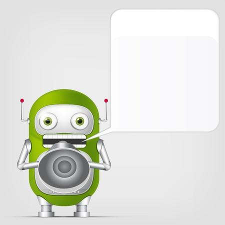 Cute Robot Stock Vector - 18725307