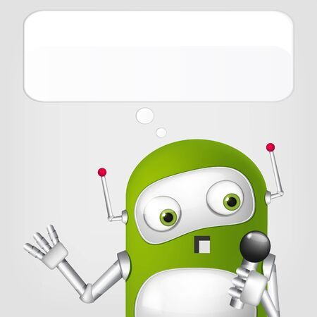 Cute Robot Stock Vector - 18725304