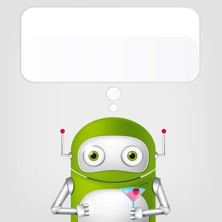 Cute Robot Stock Vector - 18725308