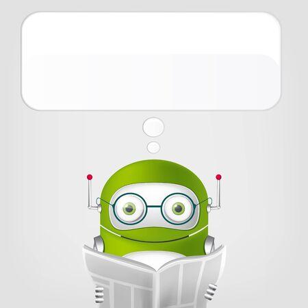 Cute Robot Stock Vector - 18725310