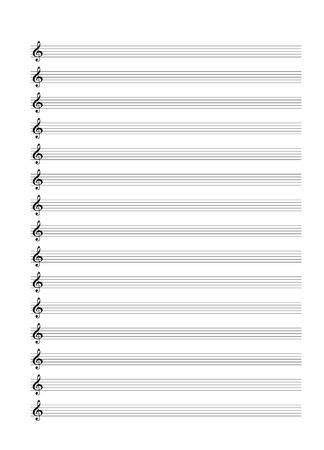 Standart Music Staff Stock Vector - 19110808