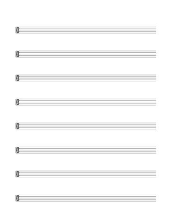 Standart Music Staff Stock Vector - 19110806