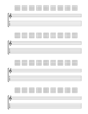 Guitar TAB Staff Stock Vector - 19155238
