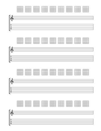 Guitar TAB Staff Stock Vector - 19155238