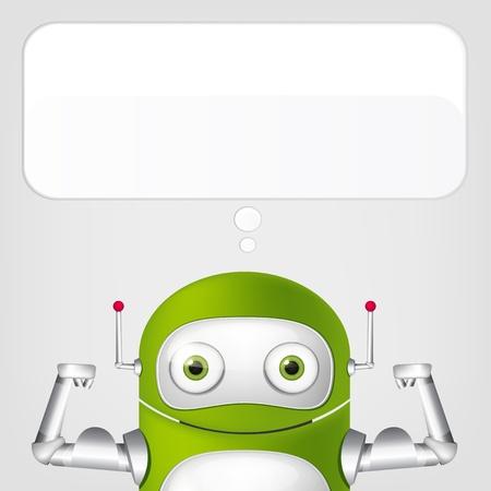 Cute Robot Stock Vector - 19454675