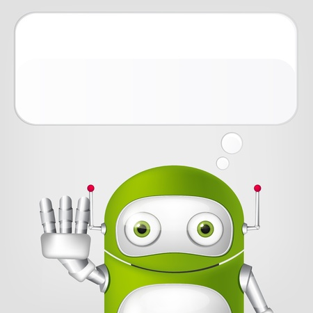 Cute Robot Stock Vector - 19454676