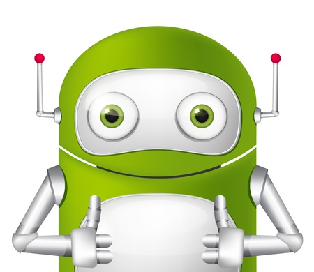 Cute Robot Stock Vector - 19454948