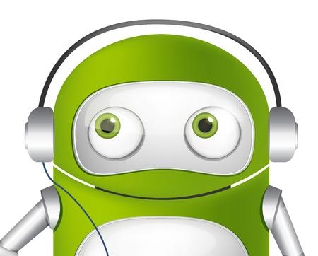 Cute Robot Stock Vector - 19454947