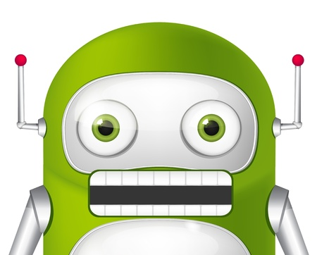 Green Robot Stock Vector - 19454953