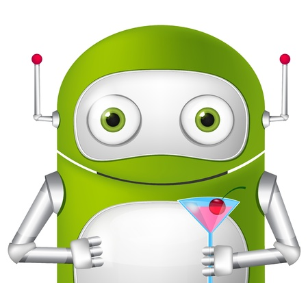 Cute Robot Stock Vector - 19454950