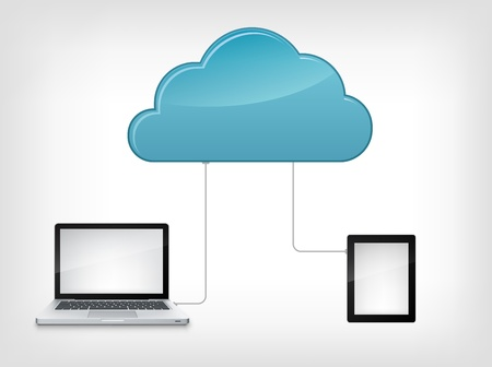 Cloud Service Ilustração