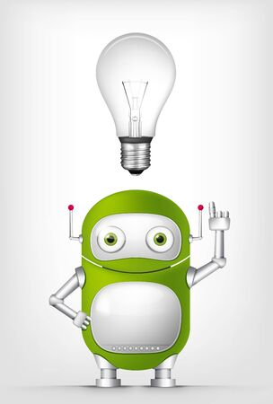 personality development: Green Robot