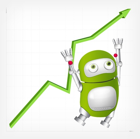 Green Robot Stock Vector - 19664899
