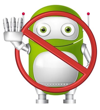 violate: Green Robot