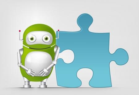 Green Robot Stock Vector - 19872485