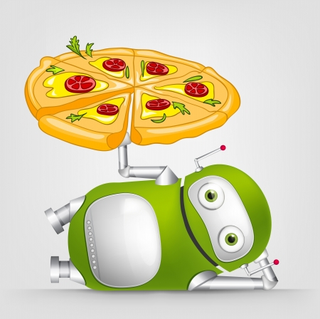 pizza place: Green Robot