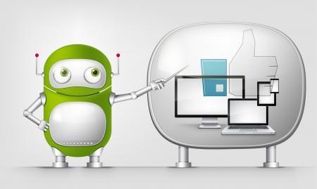 Green Robot Stock Vector - 20070207
