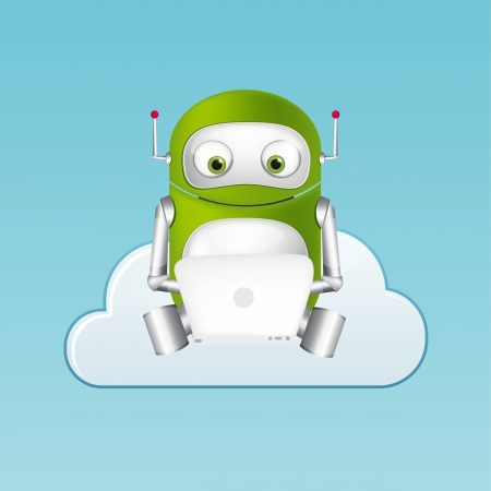 Green Robot Stock Vector - 20070182