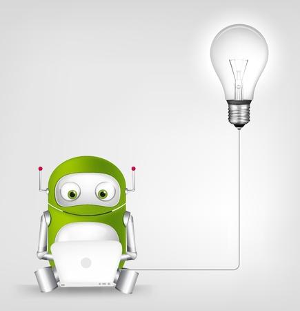 mobile communication: Green Robot
