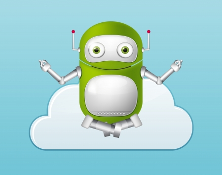 Green Robot Vector