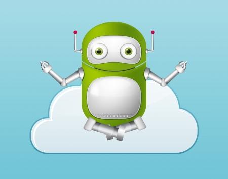 Green Robot Stock Vector - 20070188