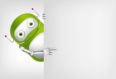 緑のロボット