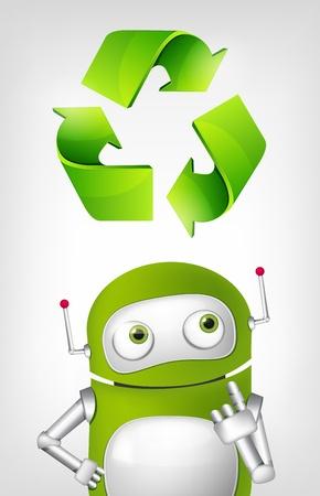 Green Robot Stock Vector - 20070170