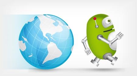 Green Robot Stock Vector - 20067581
