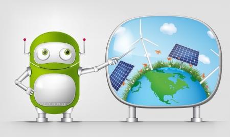 Green Robot Stock Vector - 20070223