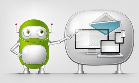 Green Robot Stock Vector - 20070212
