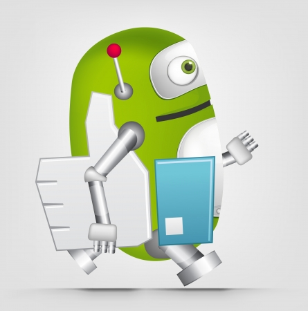 Green Robot Stock Vector - 20070254