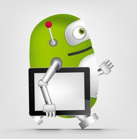 Green Robot Stock Vector - 20070252
