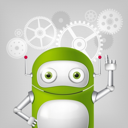 Green Robot Stock Vector - 20070257