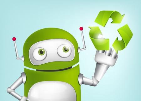 recycling: Green Robot