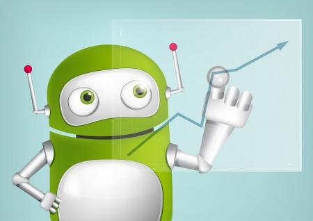 Green Robot Stock Vector - 20070248