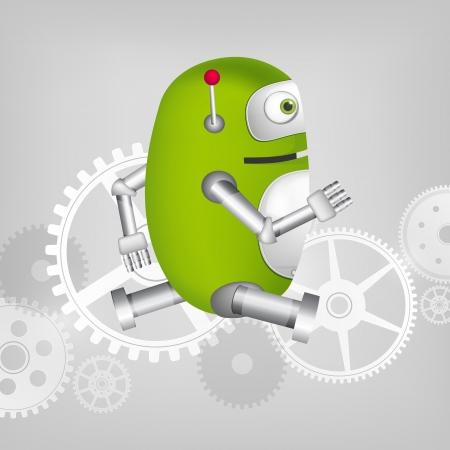 Green Robot Stock Vector - 20070268