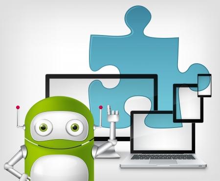 cybernetics: Green Robot