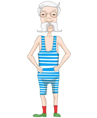 Old Man Isolated on White Background. Vector Illustration. EPS 10. Stock Vector - 20633641
