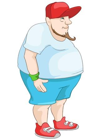 Cheerful Chubby Man Stock Vector - 20633347