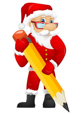 signing papers: Santa Claus Illustration